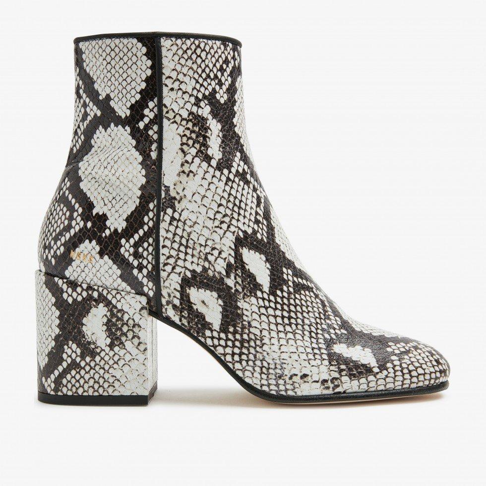 Beige Ankle Boots Gigi Roma Python Nubikk