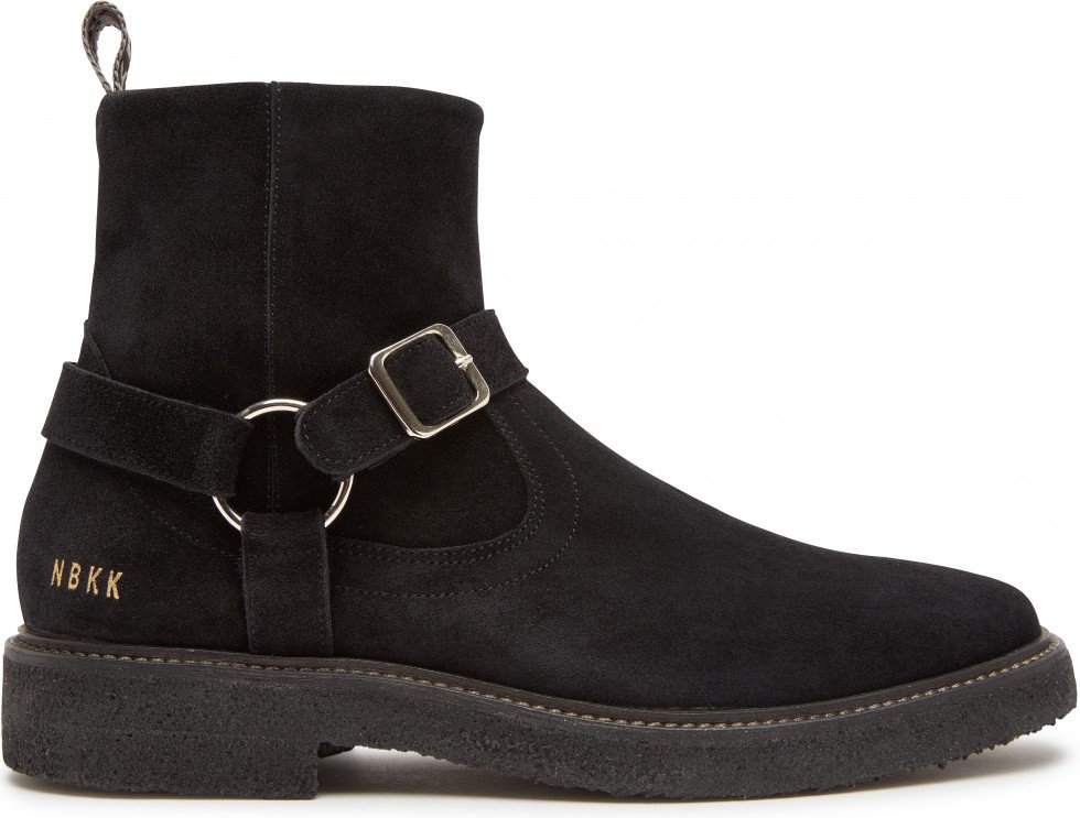Schwarze Chelsea Boots Logan Crepe Belt Nubikk