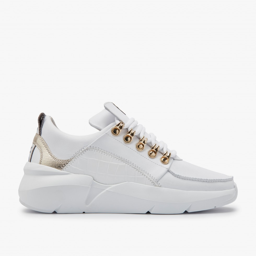 Nubikk Lucy Royal Gold White Sneakers