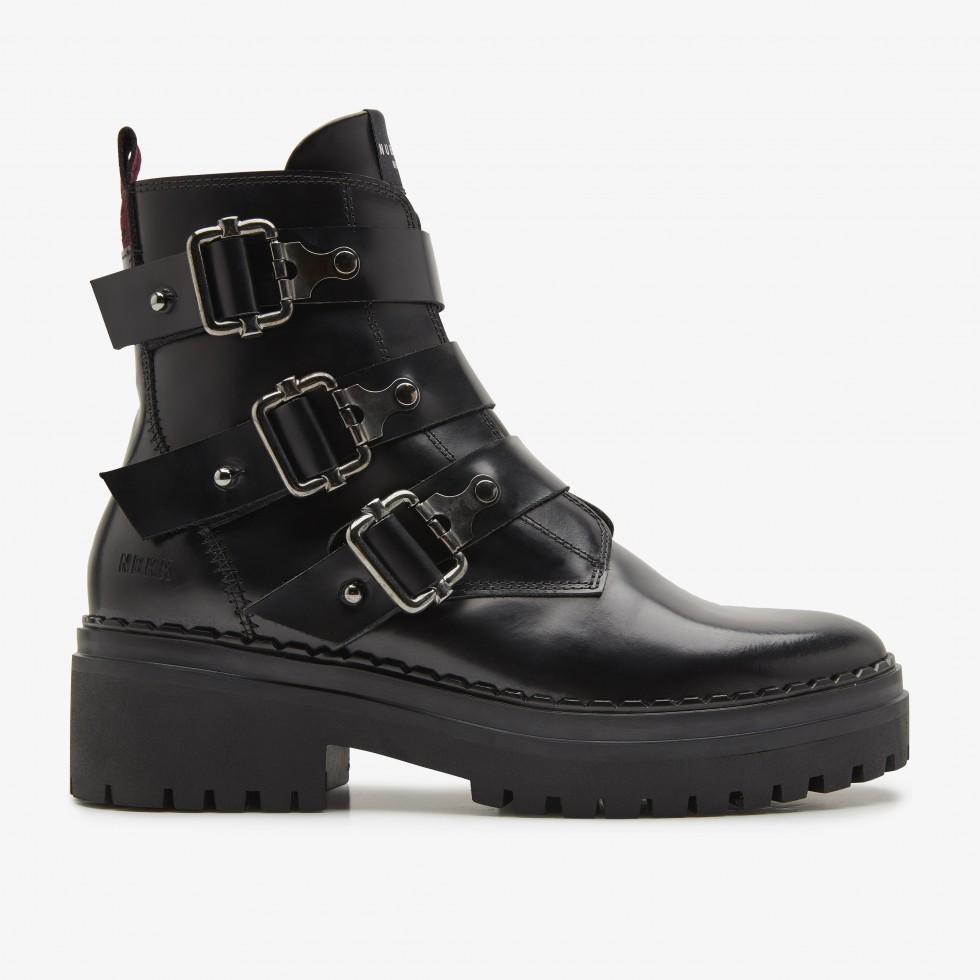 Zwarte Laarzen Fae Buckle Nubikk