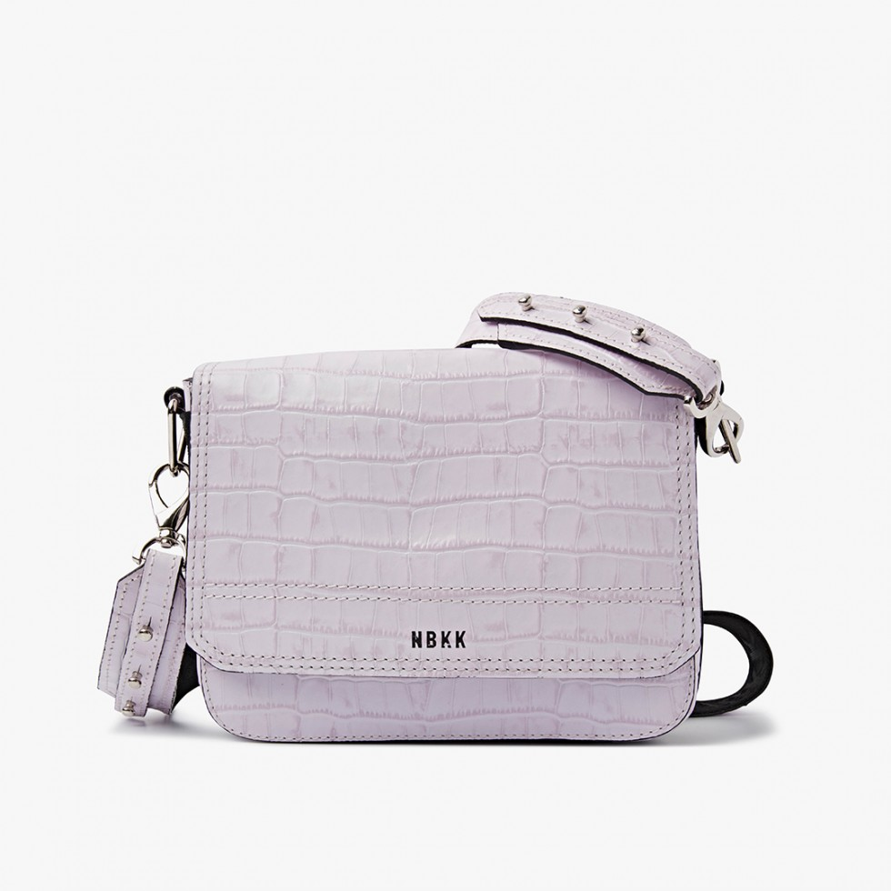 Nubikk April Lilac Croco Bag