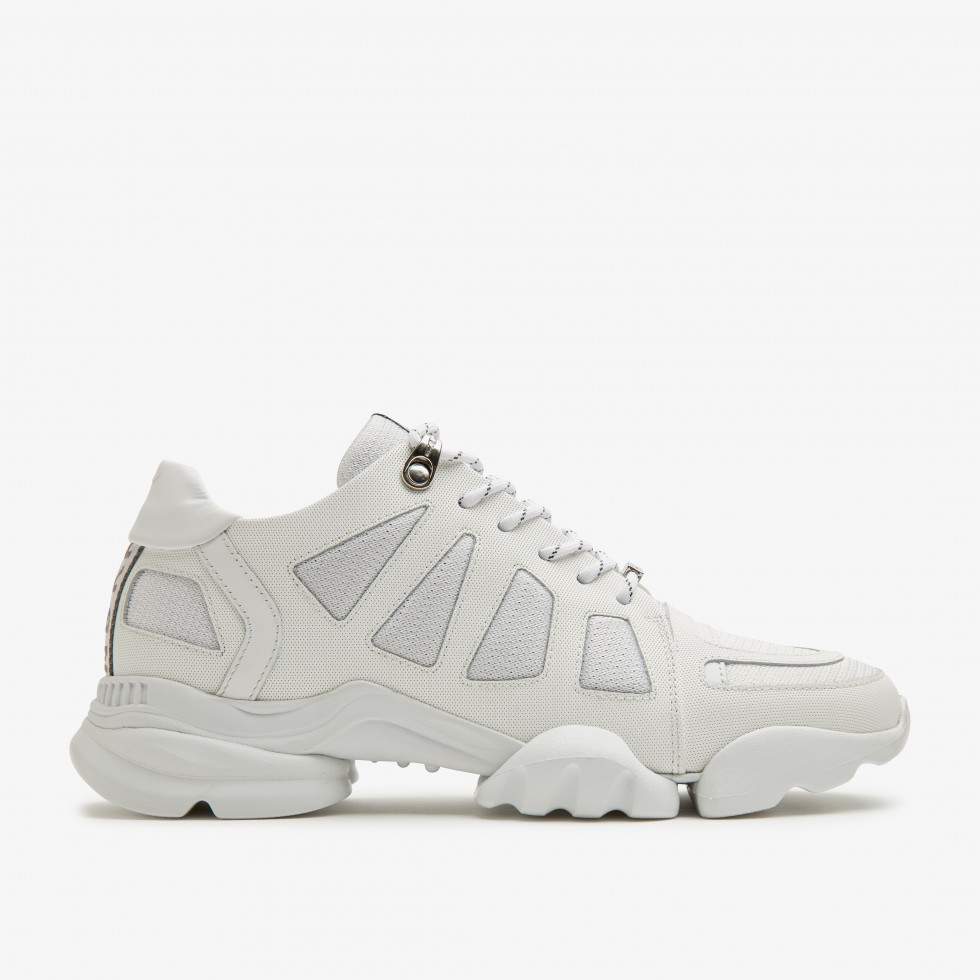 Witte Sneaker Jill Razor Nubikk