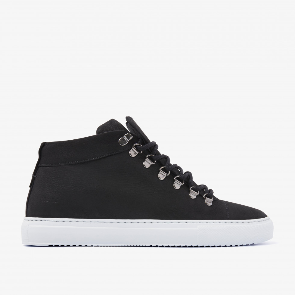 Nubikk Jase Mid Zwarte Sneakers