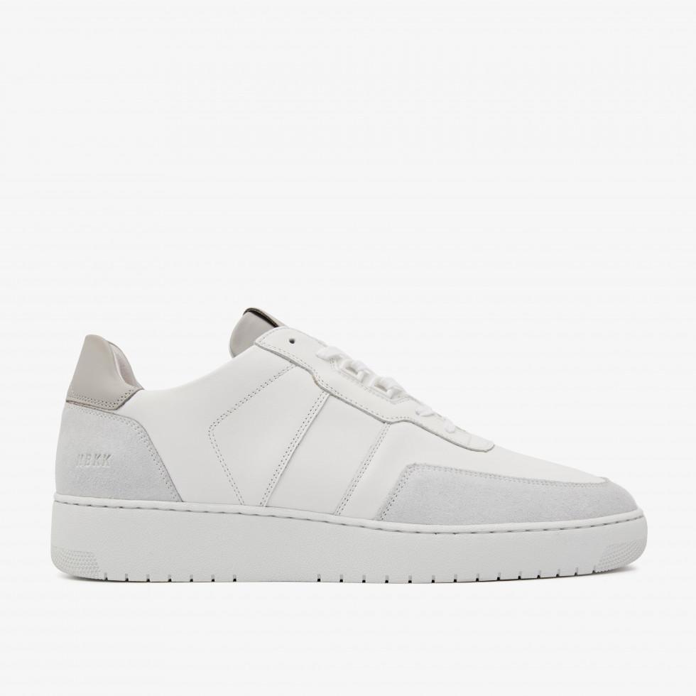 Nubikk Yucca Ace M Grijs Witte Sneakers