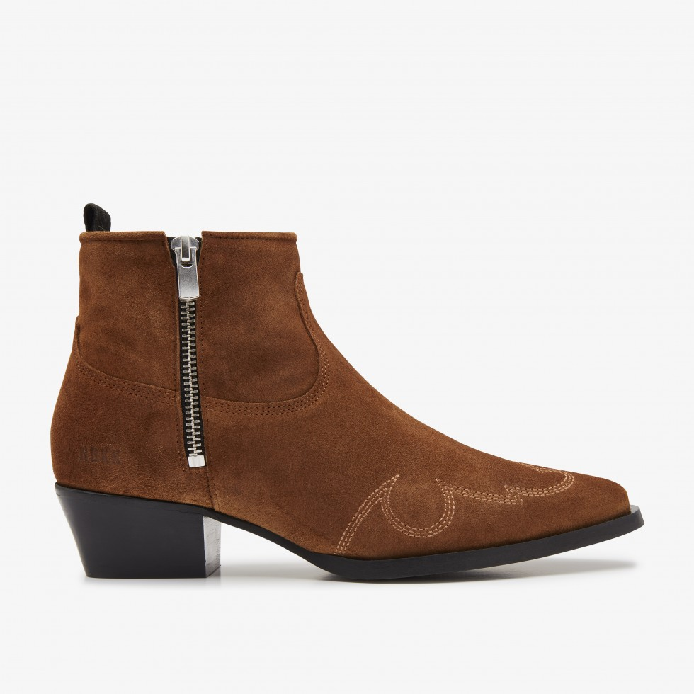 Cognac Ankle Boots Holly Golf Nubikk