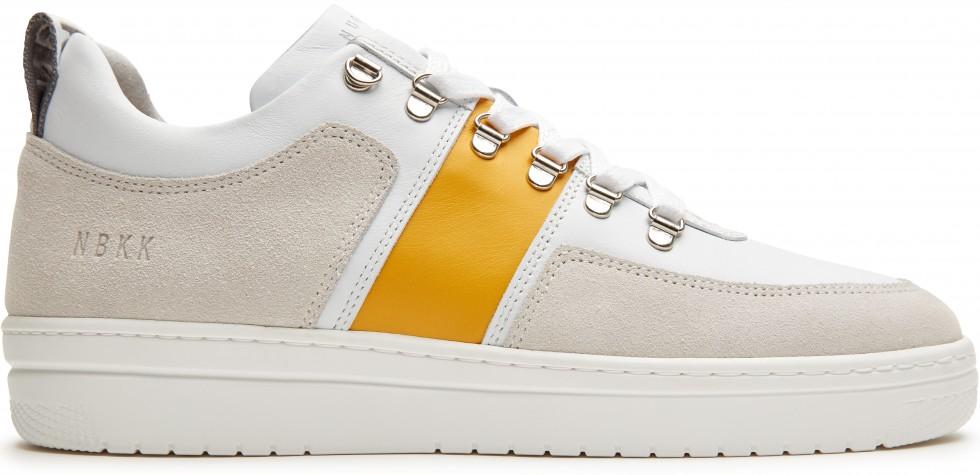 Witte Sneaker Yeye Maze Block Yellow L Nubikk