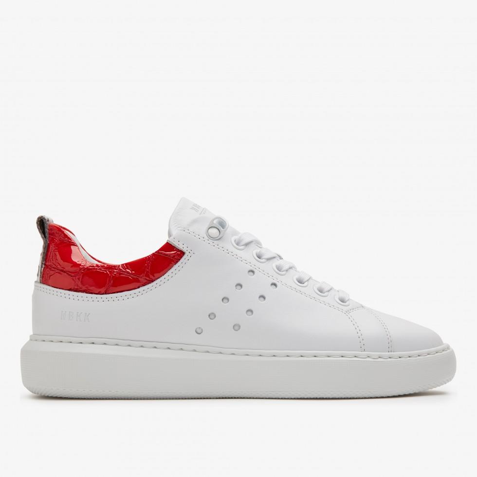 Rox Red Croco | White Trainers