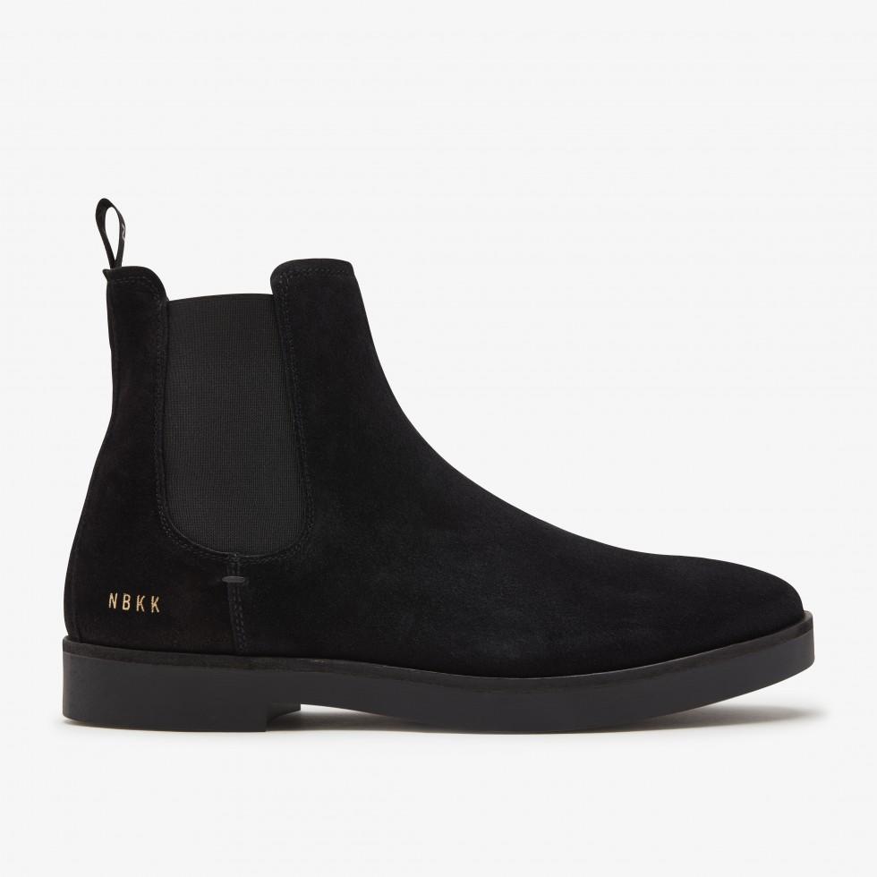 Zwarte Laarzen Logan Chelsea Nubikk