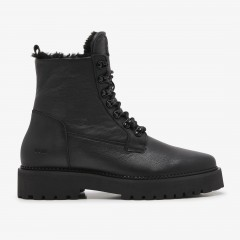 Logan Harbor Fur | Black Boots