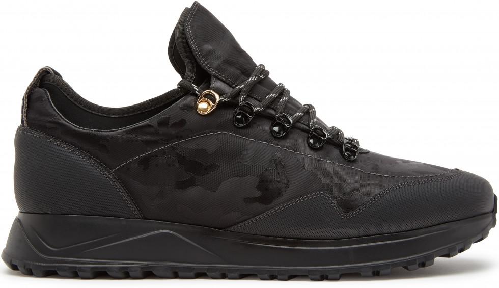 Zwarte Sneaker Elliot Marble Camo All Nubikk