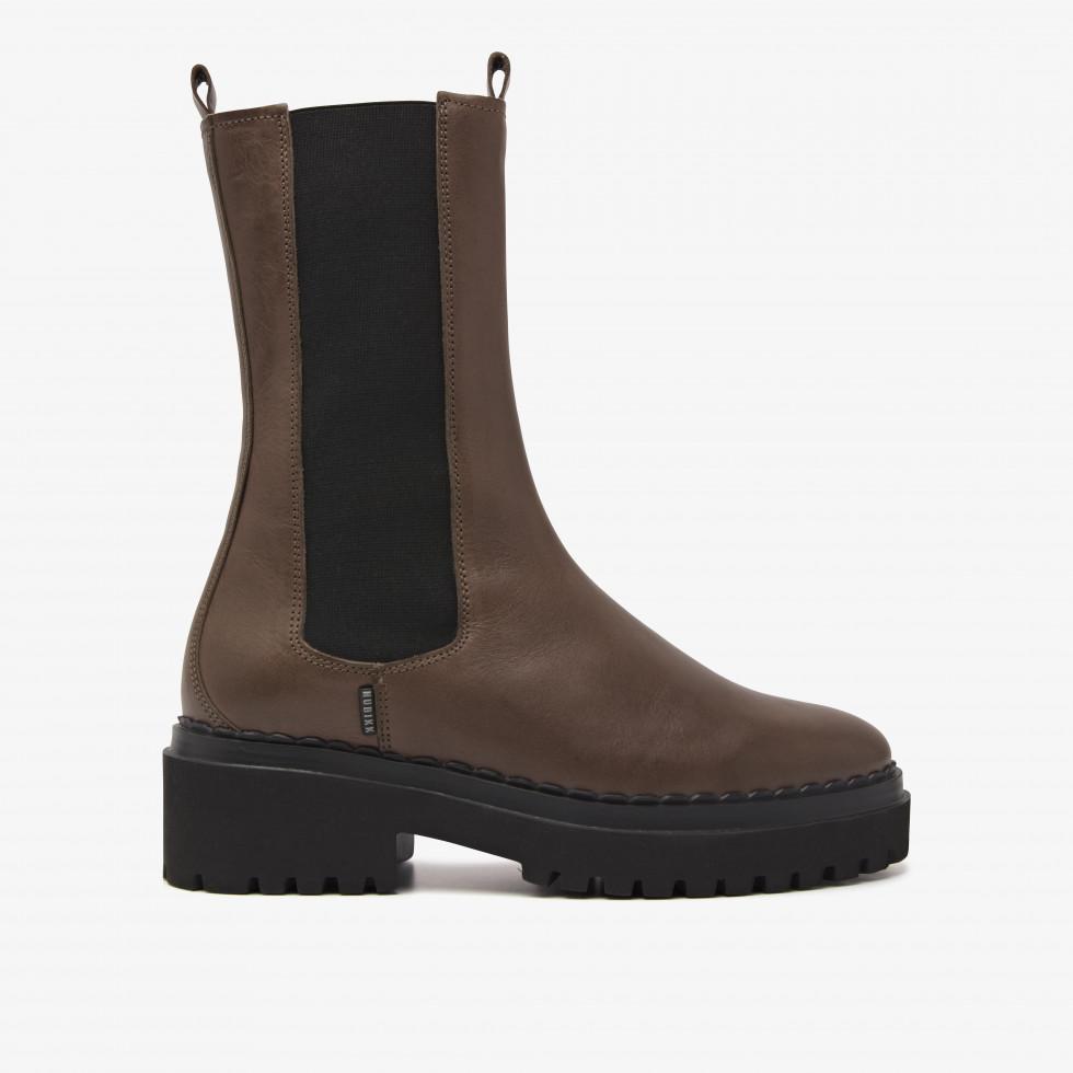 Nubikk Fae Adams Khaki Chelsea Boots