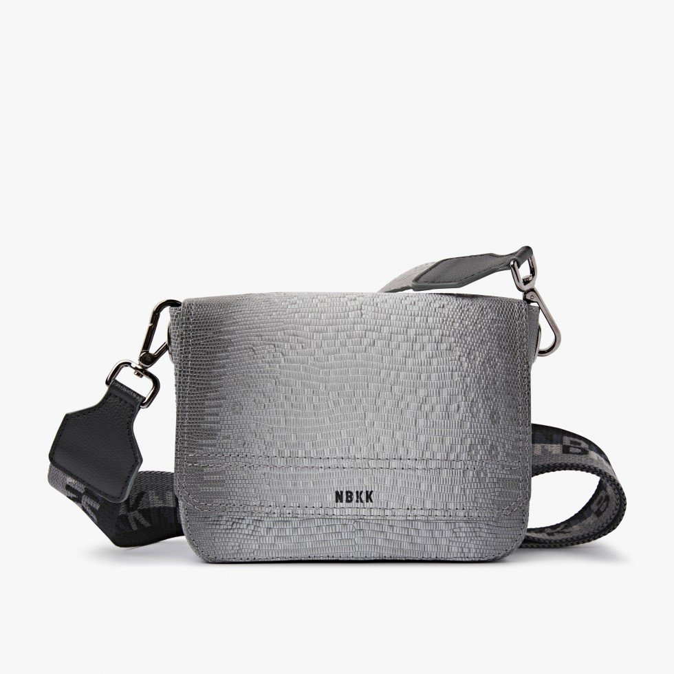 Nubikk June Grey Lizard Bag