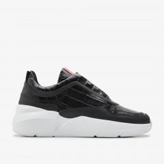 Lucy Boulder Croco | Schwarze Sneaker