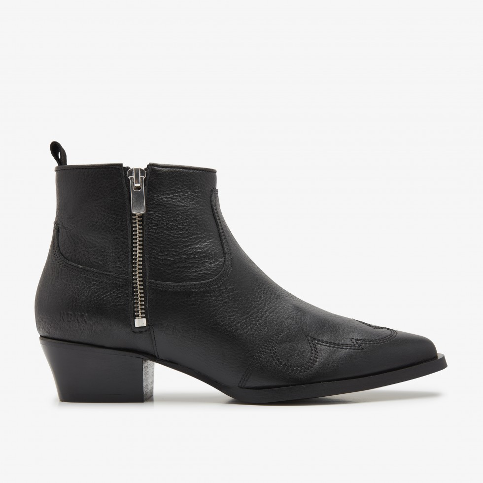 Black Ankle Boots Holly Golf Nubikk