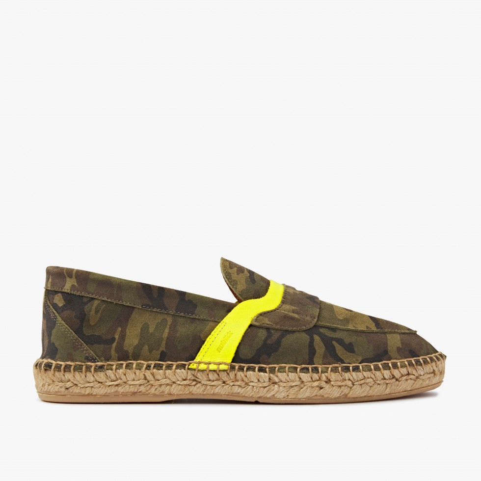 Mr Paco | Green Camo Espadrilles