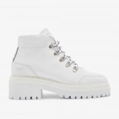 Fae Stella | White Biker Boots