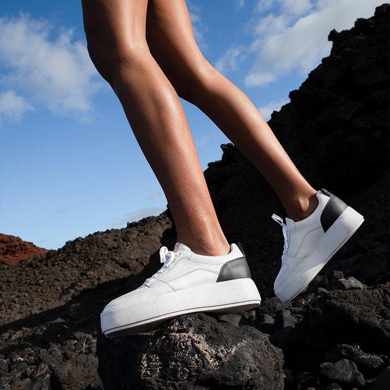 Witte Sneakers Elise Blush Nubikk
