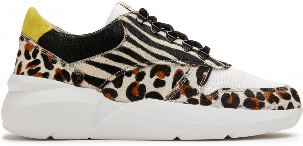 Leopard Trainers Lucy Jaw Pony Multi White Nubikk
