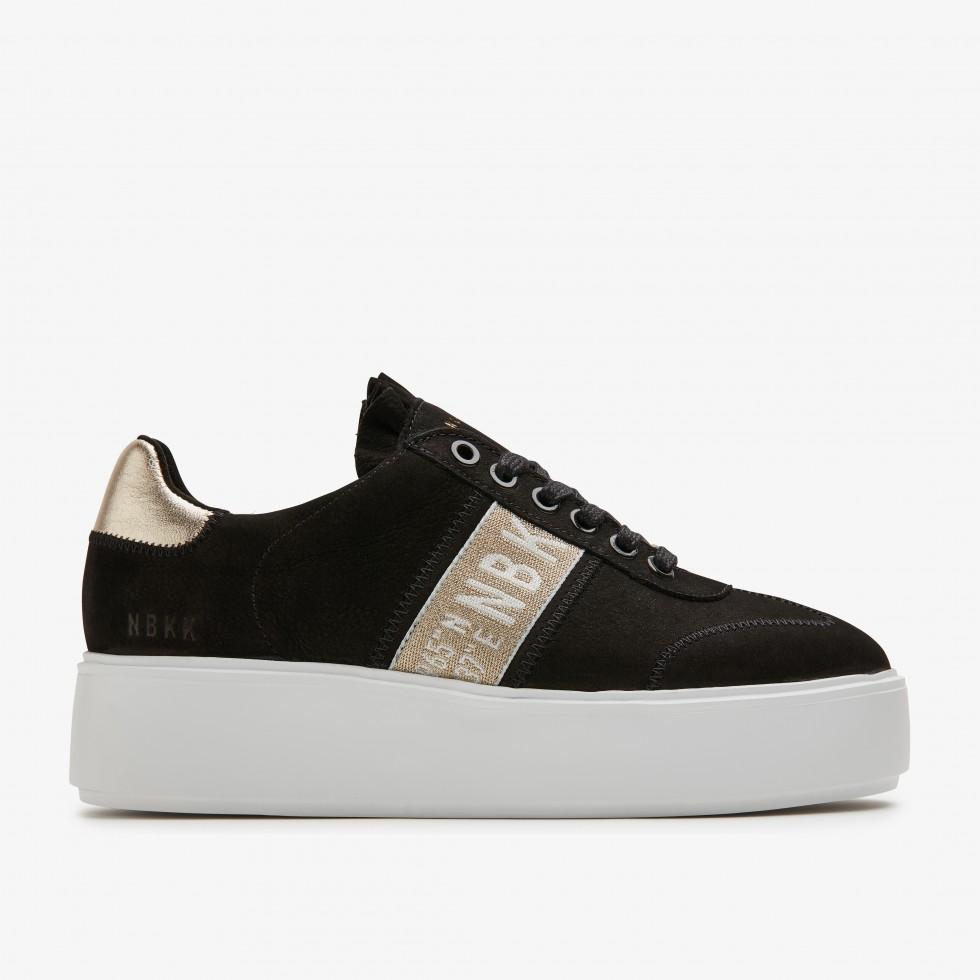 Zwarte Sneaker Elise GPS Nubikk