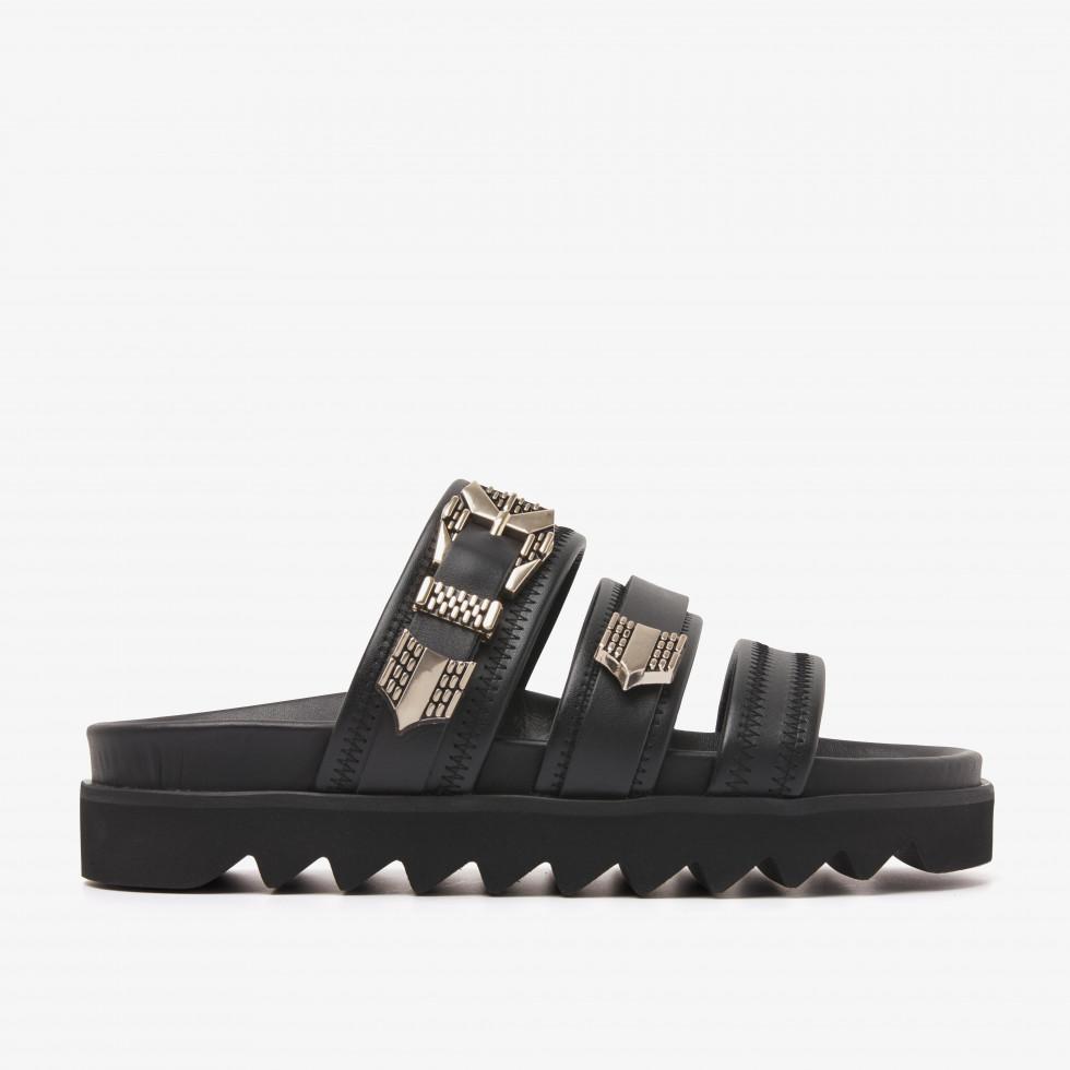 Nubikk Lauren Taro II Black Sandals