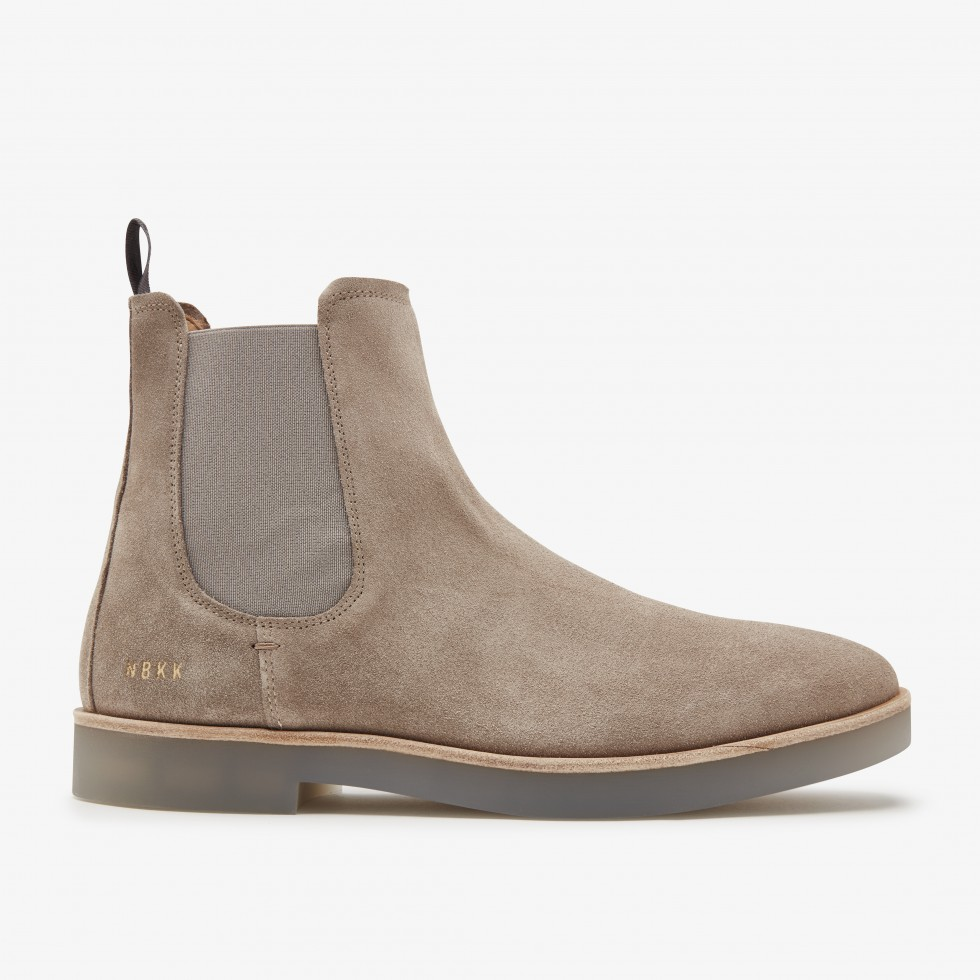 Taupe Boots Logan Chelsea Nubikk