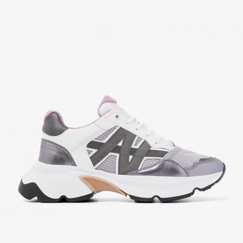 Nubikk Ross Trek Edge L Silver Sneakers