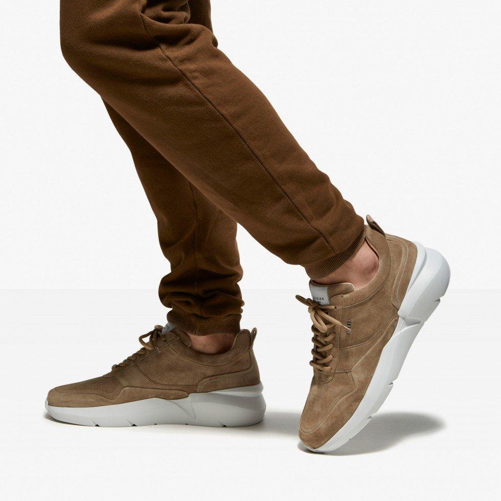 Taupe Sneaker Elven Nagare Nubikk