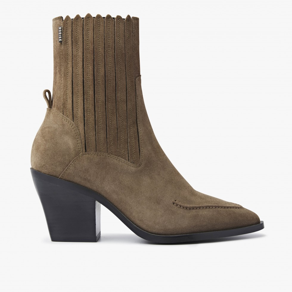 Romee Moc | Taupe Ankle Boots