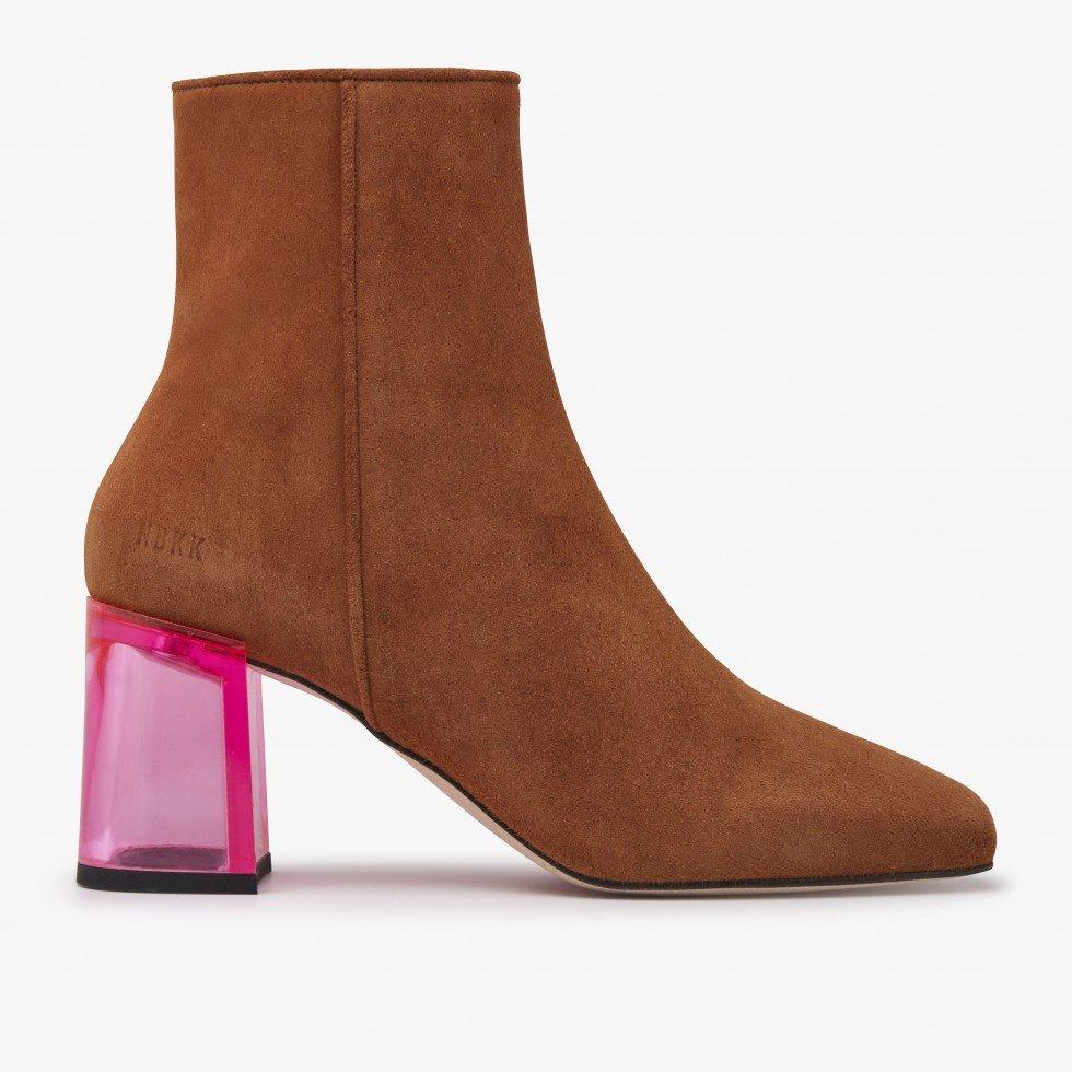 Cognac Ankle Boots Joy Ardena Nubikk