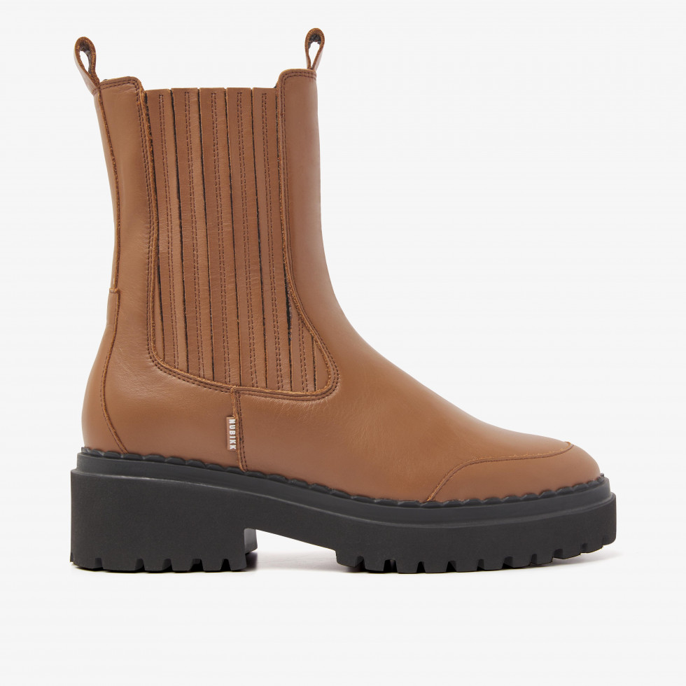 Nubikk Fae Lina Cognac Chelsea Boots