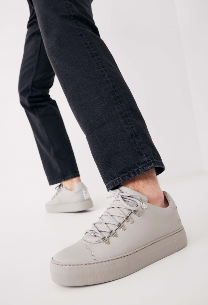 Nubikk Jagger Calf Grijze Sneakers