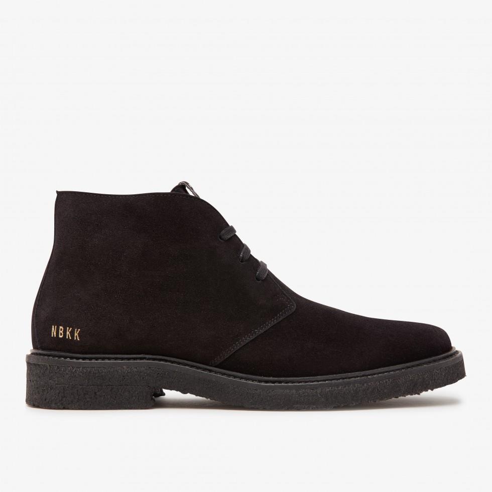 Logan Desert Fur   Black Boots