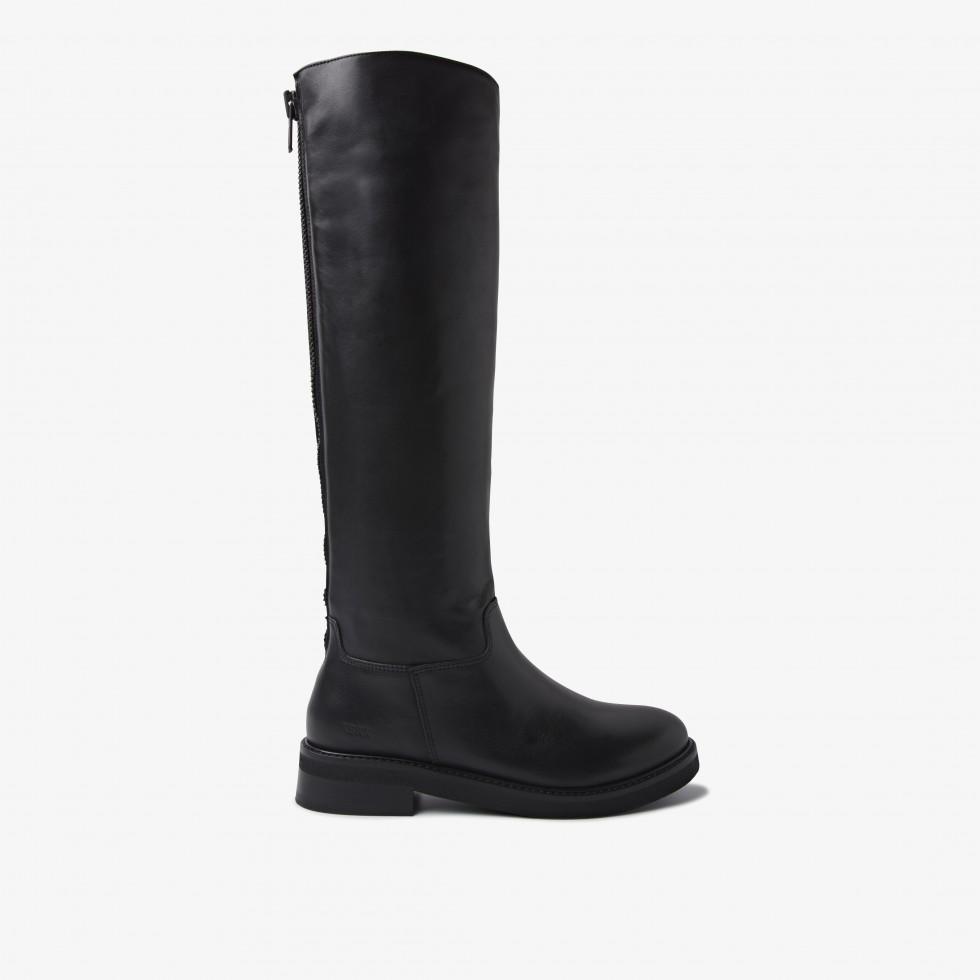 Black Boots Sarray Zip Nubikk