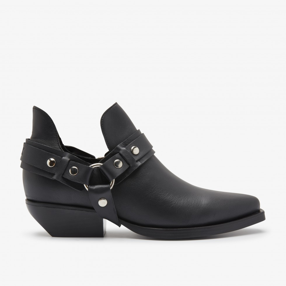 Bottines Noires Holly Hale Nubikk