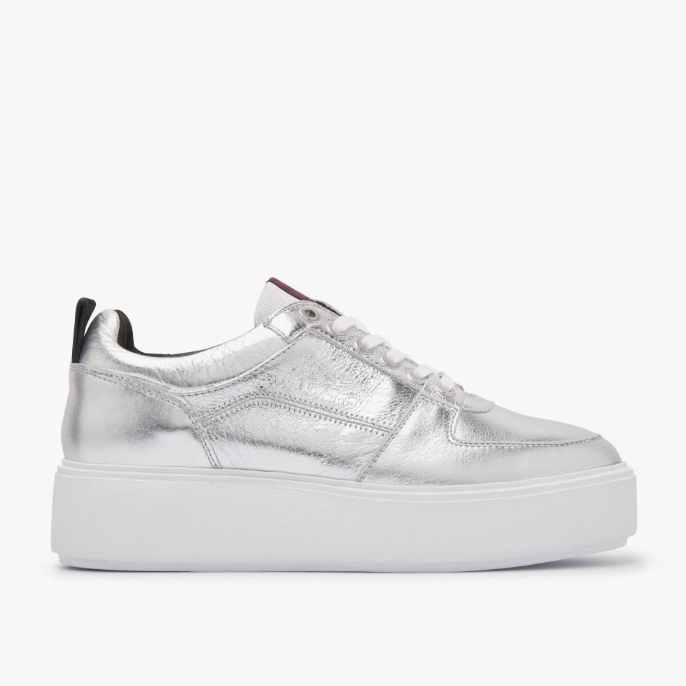 Elise Blush | Zilveren Sneakers