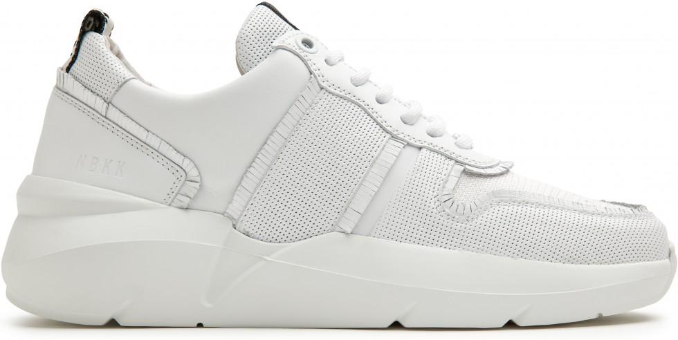 Witte Sneaker Lucy Fringe Nubikk