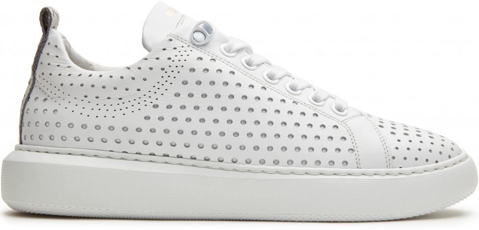 Witte Sneaker Rox Perfo Nubikk