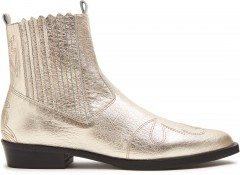 Jimmy Cura | Gold Ankle Boots