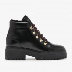 Fae Stella Fur | Zwarte Biker Boots