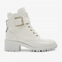 Djuna Aubine | White Biker Boots