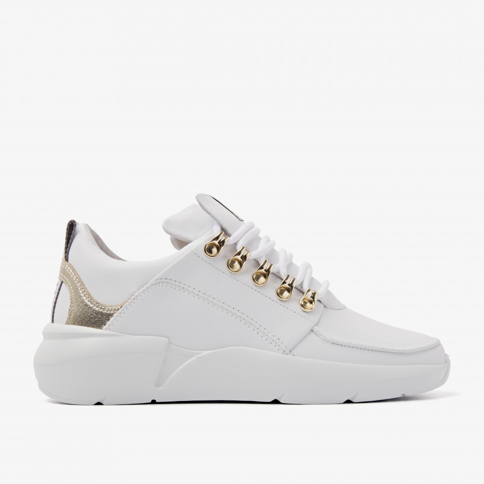 Nubikk Roque Royal L Gold Weisse Sneaker