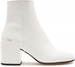 Gigi Patent | White ankle Boots