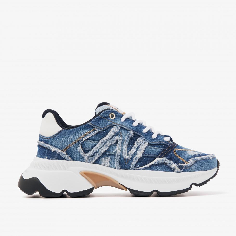 Nubikk Ross Trek L Blauwe Sneakers