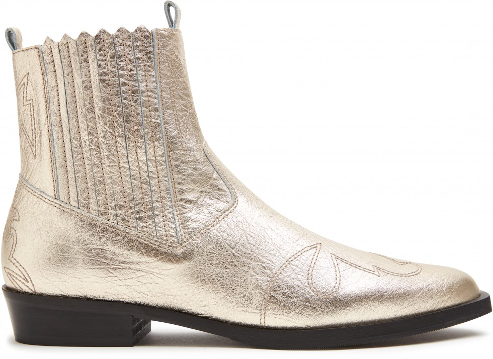 Gold Ankle Boots Jimmy Cura Nubikk