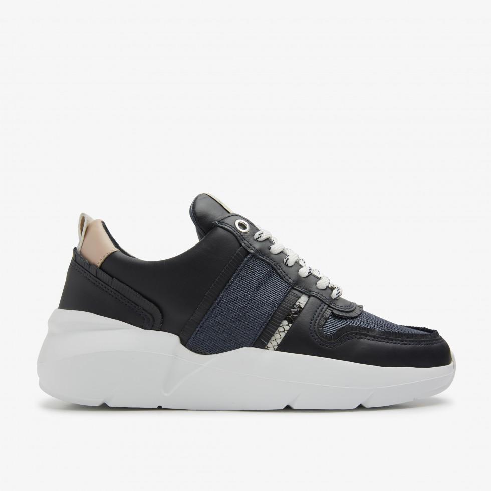 Blauwe Sneaker Lucy Fringe Nubikk