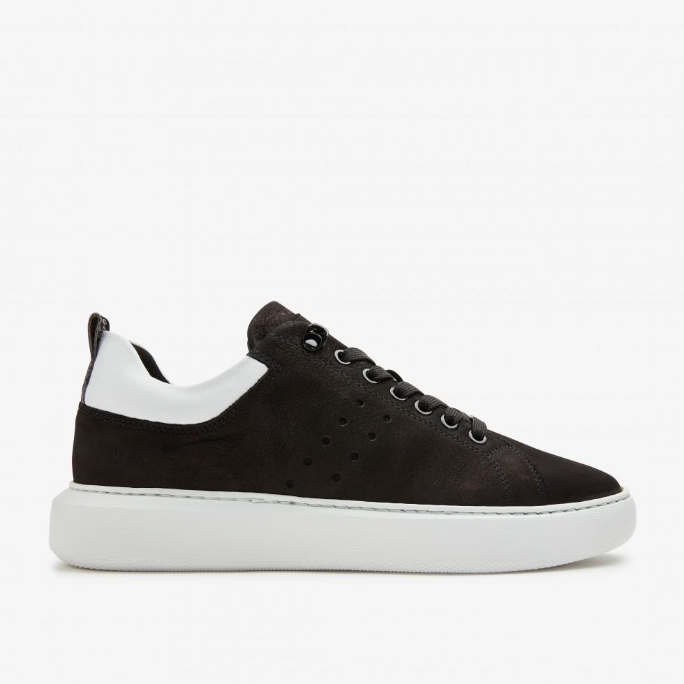 Rox Nubuck | Zwarte Sneaker