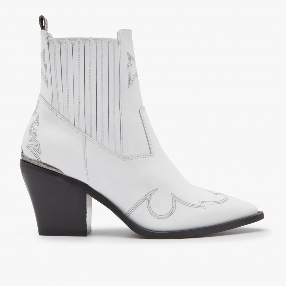 White Ankle Boots Romee Cura Nubikk