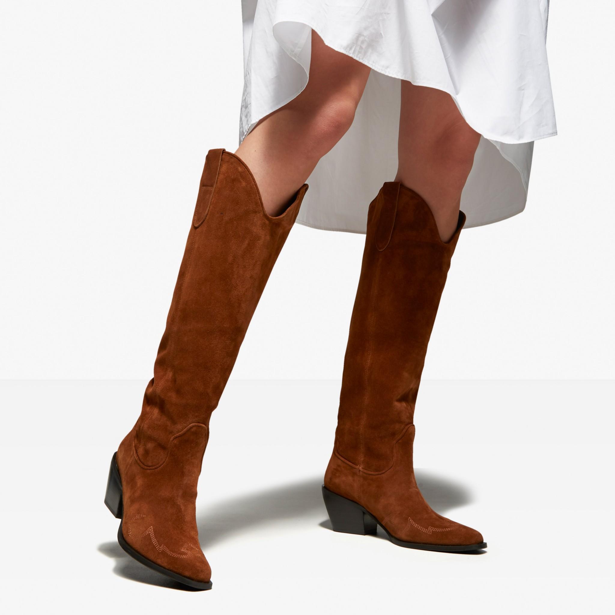 Comfort hoge laarzen cognac | Ziengs.nl