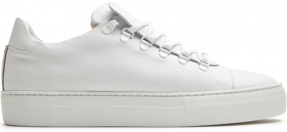 White Trainers Jagger Calf Nubikk