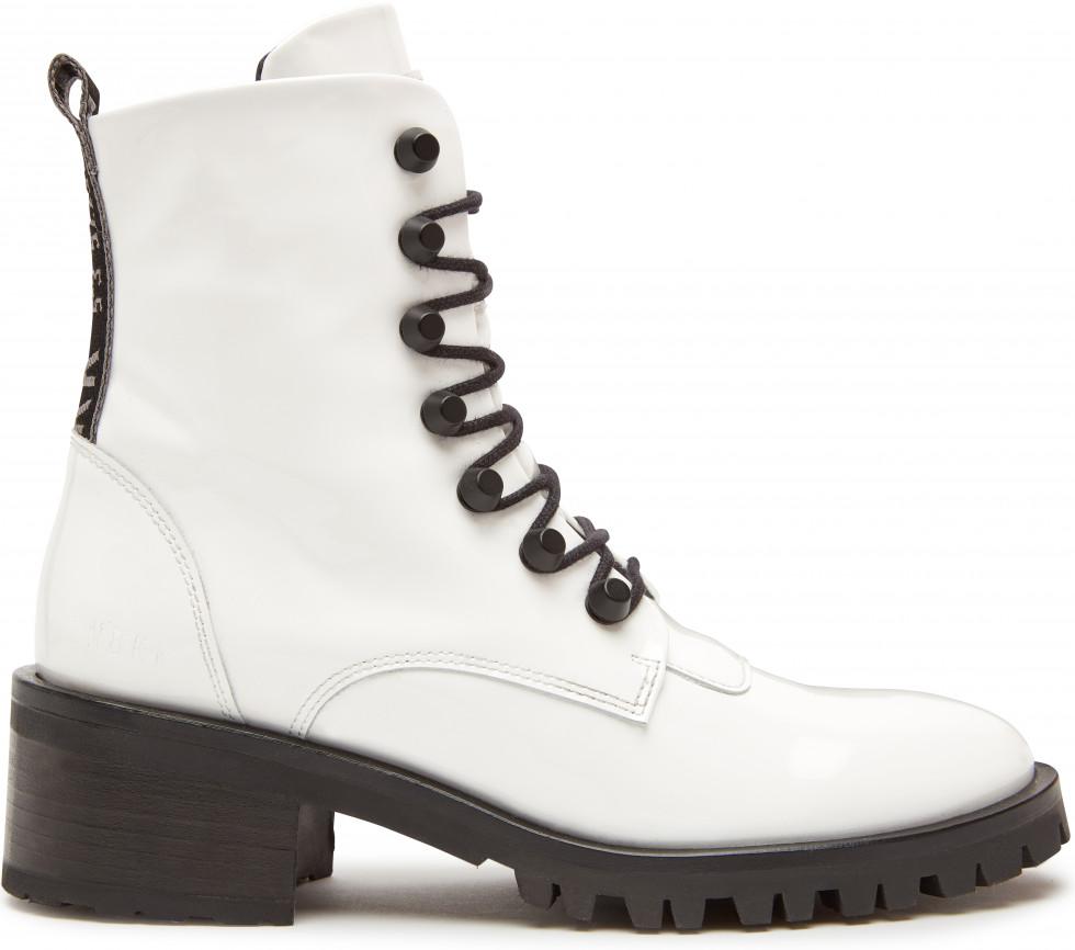 Witte Biker Boots Djuna Cone Patent Nubikk